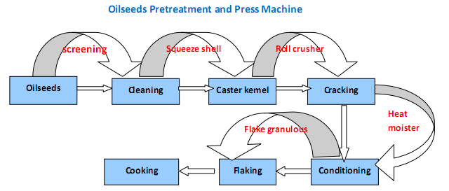 oilseed pretreatment and pressing machine