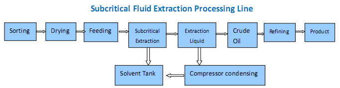 extraction de fluide souscritique