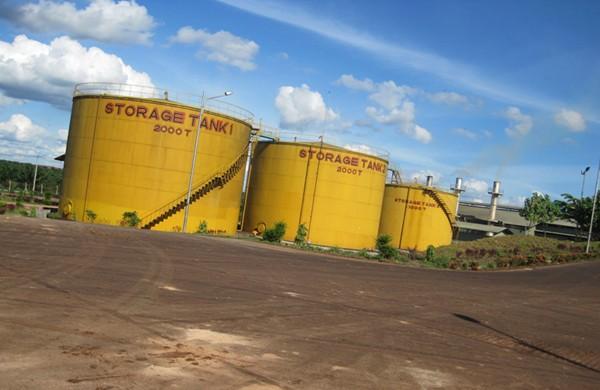 Tanque de almacenamiento de petróleo crudo